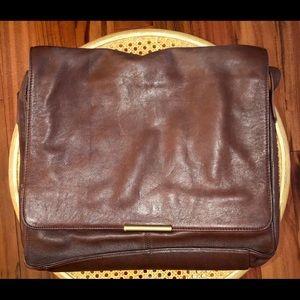 Vintage Nine West leather messenger bag briefcase